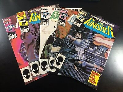 MARVEL Comics PUNISHER #1 2 3 4 5 COMPLETE Limited Series NETFLIX Ships FREE! NM