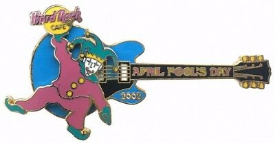 Hard Rock Cafe 2002 Online April Fools Day Guitar with Spinning Jester Pin