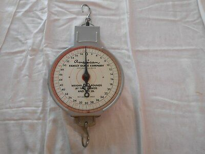 Vintage metal AMERICAN FAMILY SCALE HANGING 60 POUNDS