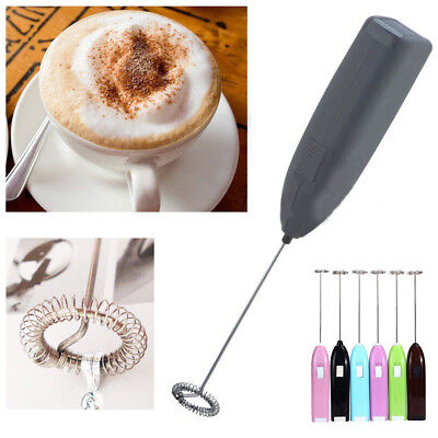 Stainless steel Handle Drinks Milk Frother Foamer Whisk Mixer Stirrer Egg Beater