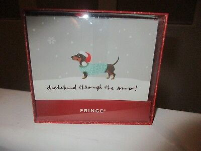 Dachshund Through The Snow Christmas boxed Dogs 16 Assorted Holiday Cards PUG