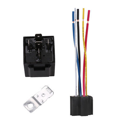DC 12V Car Motor SPDT Automotive Relay 5 Pin 5 Wires w/Harness Socket 30/40 Amp
