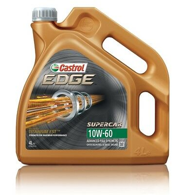 4L Car Engine Oil 4 Litres SAE 10W60 Fully Synthetic Titanium FST - Castrol Edge