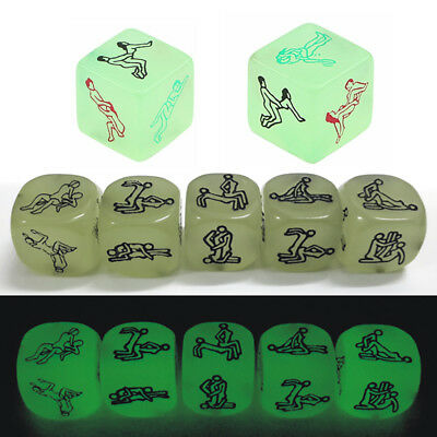 Luminous 6 Side Sex Funny Adult Love Humour Romance Erotic Dice Party Toys Prop