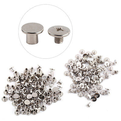Wholesale 100Pcs Nickel Binding Chicago Screws Nail Rivet Album Leather 5x6mm