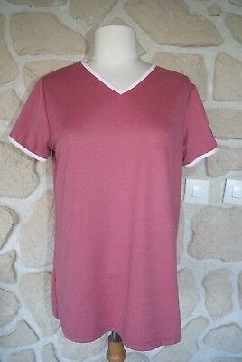 tee-shirt manches courtes thermorégulant neuf rose taille L marque Arod