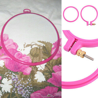 "Plastic Embroidery Cross Stitch Ring Hoop Frame from 3"" to 10"""