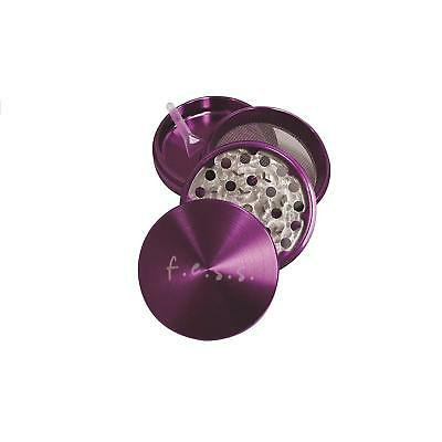 """Large Spice Tobacco Herb Weed Grinder-4 Pcs with Pollen Catcher-2.5"""" Gift Purple"""