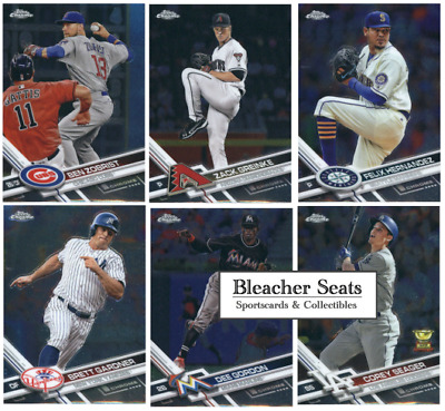 2017 Topps Chrome Baseball - Base Set and RC Cards - Pick From Card #'s 1-200