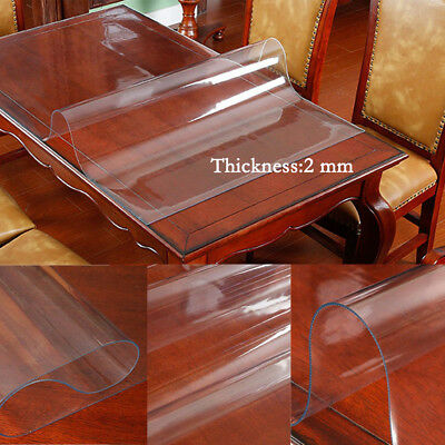 2mm strong clear plastic table cloth cover wipeable pvc waterproof