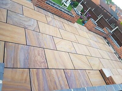 Rainbow paving patio packs indian Sandstone Slabs 900x600 PREMIUM 20MM THICK
