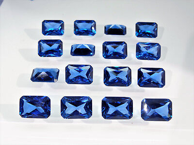 Dark Aquamarine Blue Octagon Princess Cut SIZE CHOICE Loose Spinel Gemstones