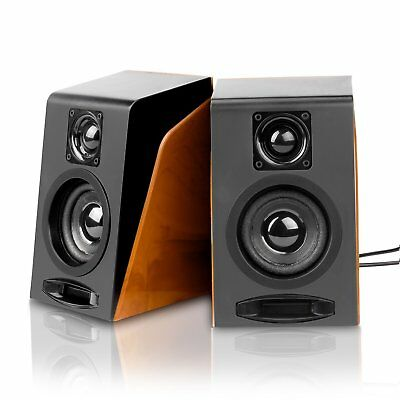 Wired Computer USB Powered Stereo Speakers for Tablet Laptop PC Desktop 3.3x3×5""