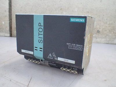 SIEMENS 6EP 1436-3BA00 SITOP POWER 20 POWER SUPPLY 24v/20A