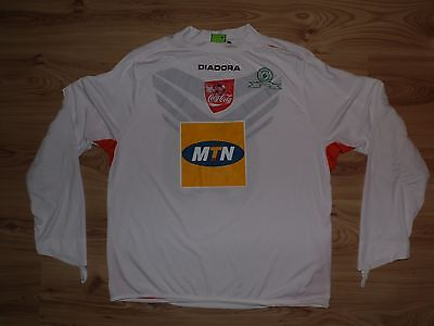 Match Worn Mamelodi Sundowns #69 XL Diadora trikot jersey shirt South Africa L/S