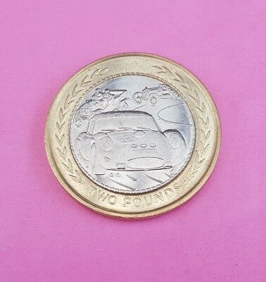 ISLE of MAN £2 Two 2 Pound Coin 1998 VINTAGE SPORTS RACING CARS TT MANX RALLY