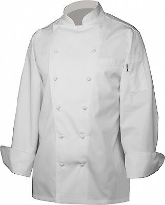 Chef Works  Henri Executive White Chef Coat CCHR-WHT  Size 46