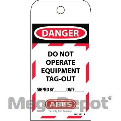 "Abus T100, 73004 Laminated Vinyl ""Do Not Operate"" Lockout Tag"