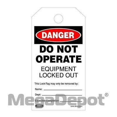 "Abus T200, 73008 High-Quality Plastic ""Do Not Operate"" Lockout Tag"