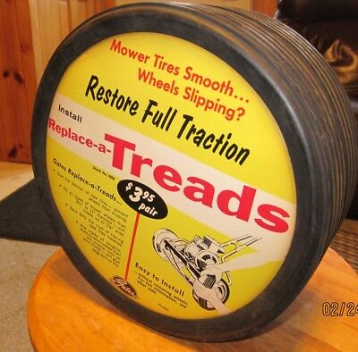 Vintage MINT Gates Lawn Mower Replace-A-Treads Retreads Store Adv. Display