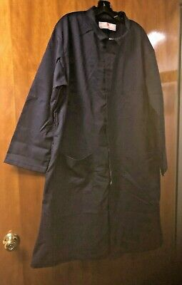 Coverall.adolphe Lafont.100% Cotton. Made In Usa.blue With Zipper/Snap Front.