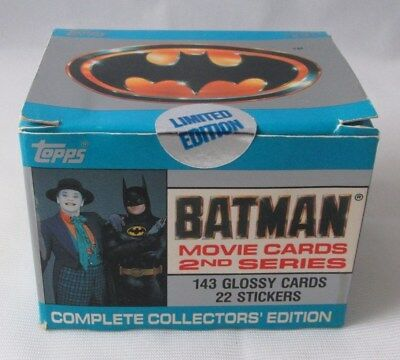 1989 Batman Movie Cards 2Nd Series Complete Collectors' Edition Set Sealed