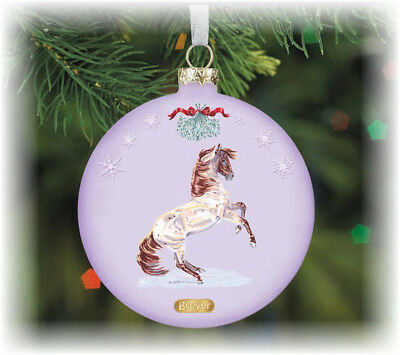 Breyer Artist Signature Ornament #700815 Glass Mustang Holiday 2015 NEW IN BOX