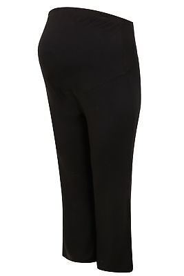 YoursClothing Plus Size Womens Bump It Up Maternity Yoga Pants Panel Black