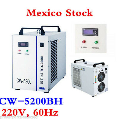 Mexico! 220V 60Hz CW-5200BH Water Chiller for 8KW Spindle/ Welding / laser tube