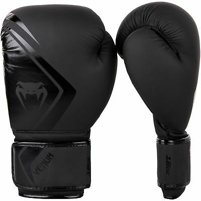 Venum Contender Boxing Gloves Black Sparring Muay Thai Kickboxing 10 12 14 16oz
