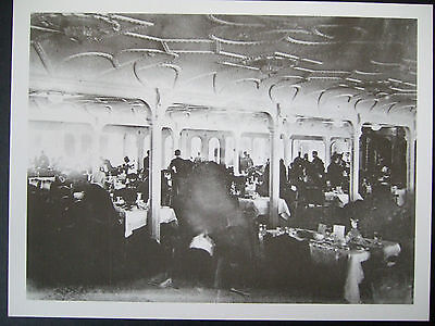 Titanic Postcard-The First Class Dining Room Of The Titanic 10/11 April 1912