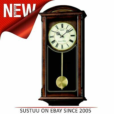 Seiko Analogue Pendulum Wall Clock│Westminster & Whittington Chimes│MDF Case│NEW