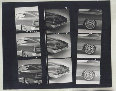 1964 AMC Rambler Marlin Concept Contact Sheet ORIGINAL Factory Photo wy8101