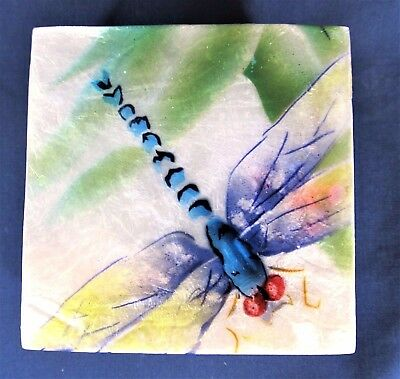 Dragonfly Capiz Trinket Box Bird Home Decor