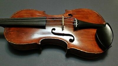 Early 1800's Antique Highly Figured American Made Violin with Mechanical Tuners