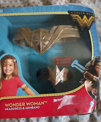 Wonder Woman Headdress and Arm Band DC Comics Justice League Girl Super Hero