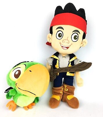 DISNEY Plush Toy Jake and the Neverland Pirates with Skully Soft Stuffed Doll