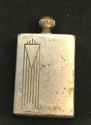 Old Vtg Antique Art Deco Match King Chicago U.S.A. Flint Striker Lighter