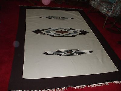 Vintage New Mexico woven blanket/rug 90 X 66, good condition