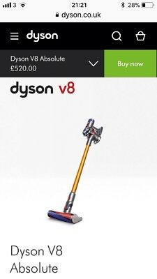 V8 Dyson Hoover brand new charity item