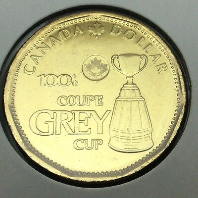 2012 Canada Grey Cup One Dollar Loonie Uncirculated Canadian Not In Case C051