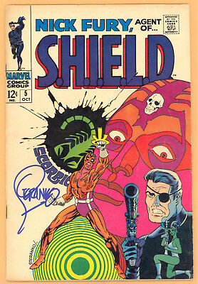 Nick Fury, Agent Of Shield #5 Signed Buy Steranko Marvel Silver Age Vg Rare