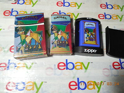 """RARE CAMEL ZIPPO LIGHTER """" AZTEC   ART COLLECTION  """" W/ Matching Boxes Empty"""