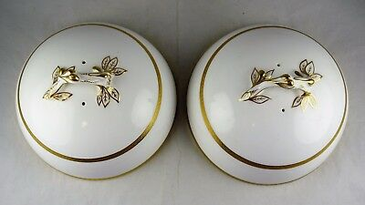 Two Minton China G8721 Serving Bowl or Dish Lids - Gold Encrusted Rim