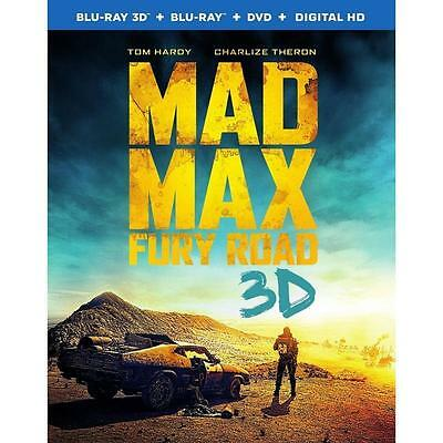 Mad Max: Fury Road (Blu-ray Disc, 2015, Blu-ray 3D, DVD, UltraViolet)