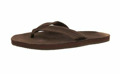 Rainbow Sandals Mens Single Layer Premier Leather Expresso Leather Medium NEW