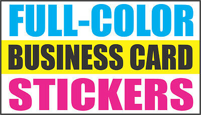 1000 Full Color Business Card Size - Decals - Stickers - Labels