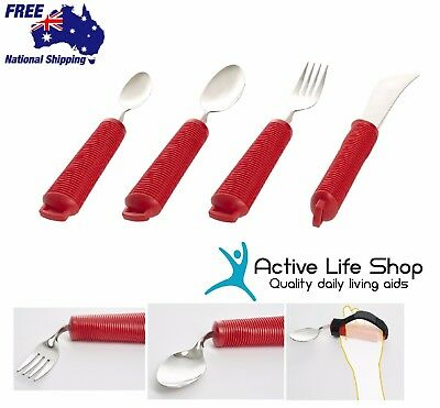 Bendable Cutlery Spoon Fork Knife Good Grip Utensil Large Handle Comfort Grip