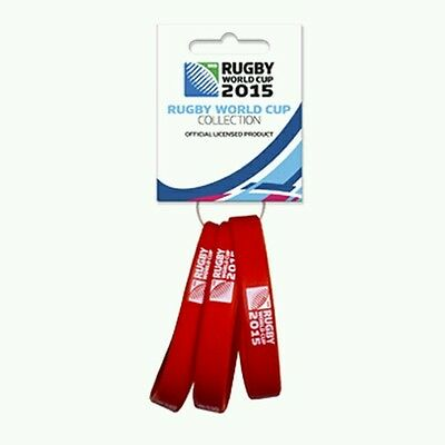 Rugby World Cup 2015 wristbands - set of 3 - Red