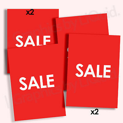4x SALE Shop Signs WINDOW POSTERS - EBAY SPECIAL